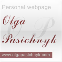 Website of Olga Pasichnyk